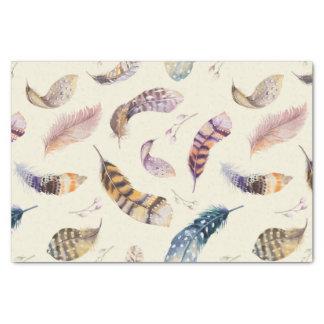 美しい水彩画はパターンに羽をつけます 薄葉紙