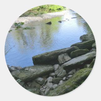 美しい河岸場面 ラウンドシール