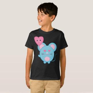 美しい泡青いピンクのスマイルのかわいい子供のTシャツ Tシャツ