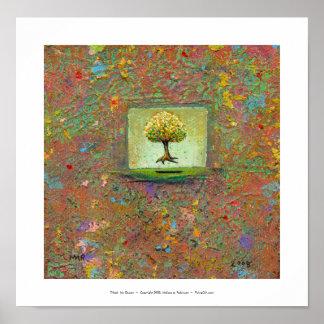 美しい浮遊木の自然な近代美術私の女王 ポスター