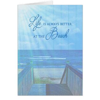 美しい海か海-多目的日曜日光線 カード