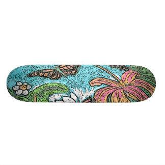 美しい漫画の花 21.6CM スケートボードデッキ