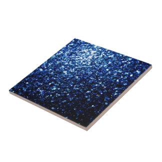 美しい濃紺のグリッターの輝き タイル