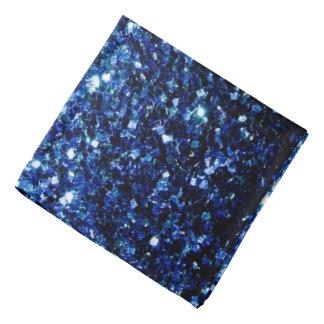 美しい濃紺のグリッターの輝き バンダナ