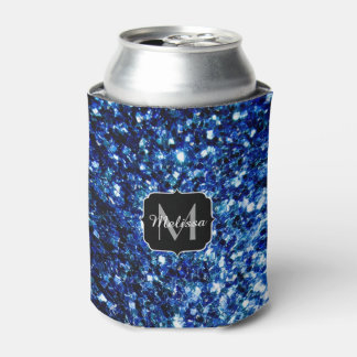 美しい濃紺のグリッターはモノグラム光っています 缶クーラー