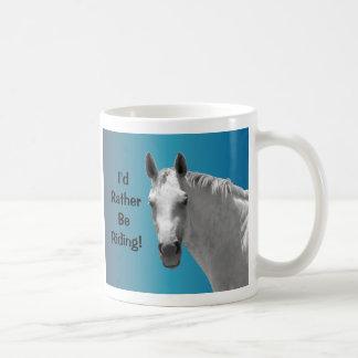 美しい灰色の馬をまだらにして下さい コーヒーマグカップ