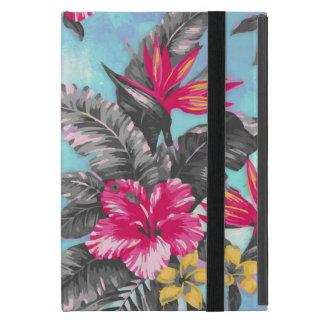美しい熱帯花のペンキの水彩画 iPad MINI ケース