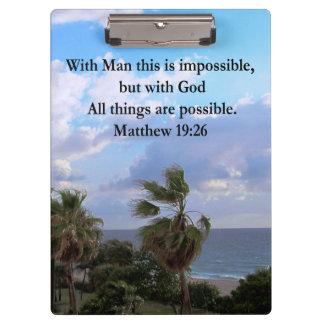美しい熱帯MATTHEWの19:26の写真のデザイン クリップボード