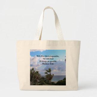 美しい熱帯MATTHEWの19:26の写真のデザイン ラージトートバッグ