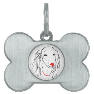 美しい犬によって組み立てられるペットタグ ペットネームタグ