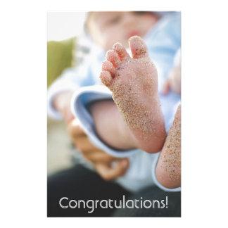 美しい男の赤ちゃんのお祝い及びお祝い 便箋