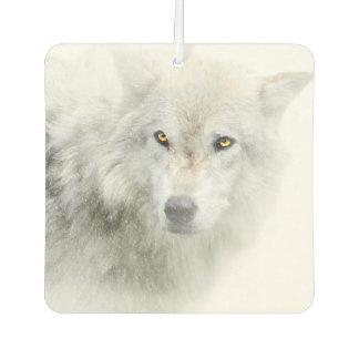 美しい白いオオカミ車の芳香剤 カーエアーフレッシュナー