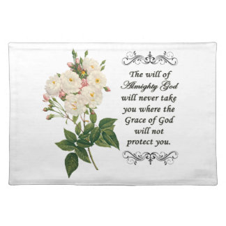 美しい白いバラのランチョンマットの花束 ランチョンマット