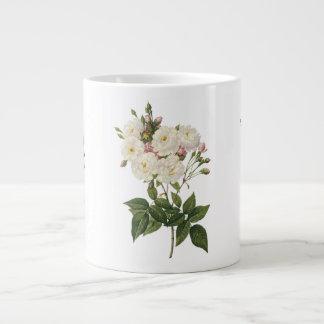 美しい白いバラの花束のマグ ジャンボコーヒーマグカップ