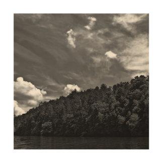 美しい白黒雲の自然の空の写真 ウッドウォールアート