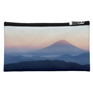 美しい眺め富士山、日本の日の出 コスメティックバッグ