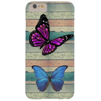 美しい着色された木製の蝶iPhone/iPad Barely There iPhone 6 Plus ケース