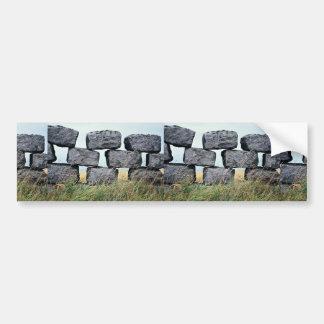 美しい石垣の壁 バンパーステッカー