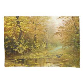 美しい秋の絵画(2つの側面)の枕カバー 枕カバー