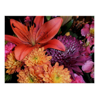 美しい秋の花束ポスター ポスター