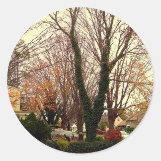 美しい秋 ラウンドシール