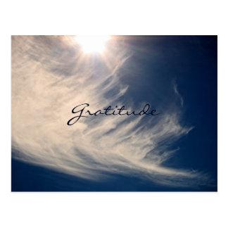 美しい空及び感謝はカスタムをインスパイア 葉書き