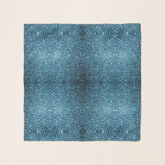 美しい空色のグリッターの輝き スカーフ