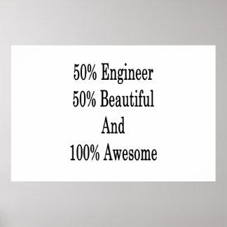 美しい素晴らしい50エンジニア50および100 ポスター