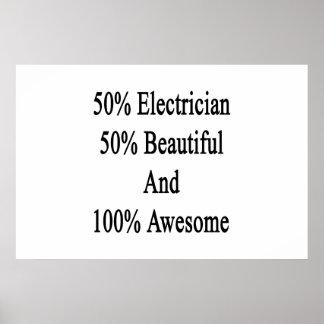 美しい素晴らしい50電気技師50および100 ポスター