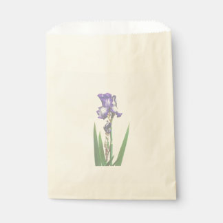 美しい紫色のアイリス フェイバーバッグ