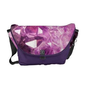 美しい紫色のアメジスト メッセンジャーバッグ