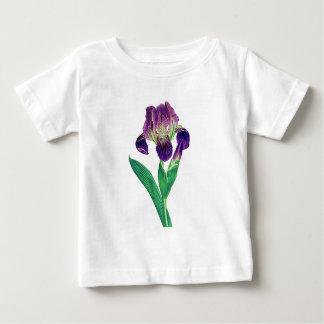 美しい紫色のオランダアイリス ベビーTシャツ