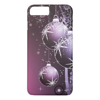 美しい紫色のクリスマスのデザイン iPhone 8 PLUS/7 PLUSケース
