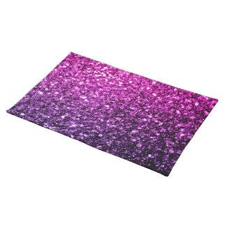 美しい紫色のピンクのグラデーションなグリッターの輝き ランチョンマット