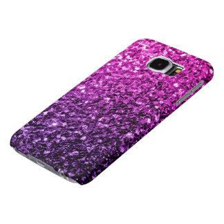 美しい紫色のピンクのグラデーションなグリッターの輝き SAMSUNG GALAXY S6 ケース