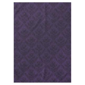 美しい紫色の暗いゴシックのビクトリア時代の人のヴィンテージ テーブルクロス