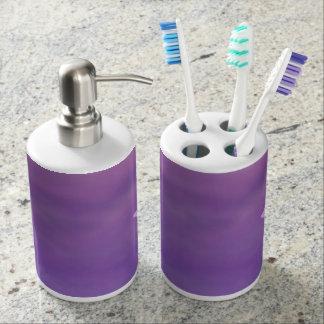 美しい紫色の浴室セット バスセット