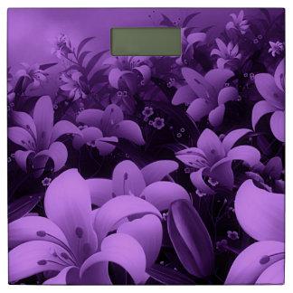 美しい紫色の花のベクトル芸術 体重計