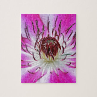 美しい紫色クレマチスの花 ジグソーパズル