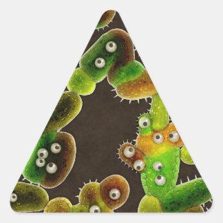 美しい細菌- 三角形シール
