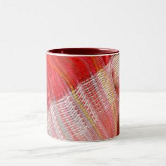 美しい絹のスカーフのマグ ツートーンマグカップ