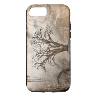 美しい織り目加工の木のiPhoneの場合 iPhone 8/7ケース