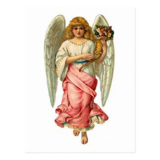 美しい翼とのイースター天使 ポストカード
