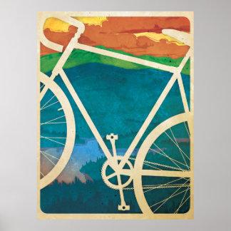 美しい自転車のアートワーク-バイクNY ポスター