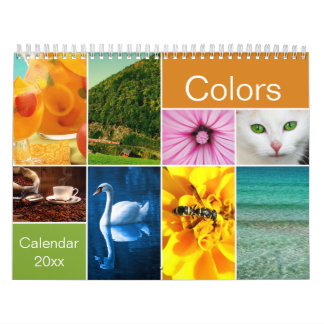 美しい色のカレンダー カレンダー
