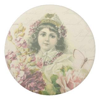 美しい花が付いているヴィンテージの女の子の花の消す物 消しゴム