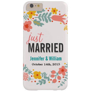 美しい花のたった今結婚しましたの結婚式のお祝い BARELY THERE iPhone 6 PLUS ケース