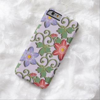 美しい花のアラベスクのクレマチス BARELY THERE iPhone 6 ケース