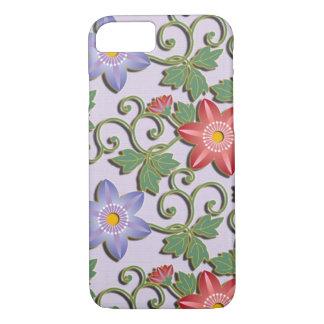 美しい花のアラベスクのクレマチス iPhone 8/7ケース