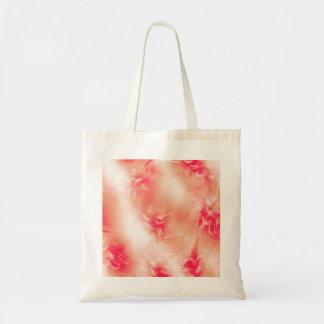 美しい花のオレンジパターン トートバッグ